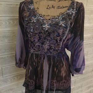 Dress barn purple blouse